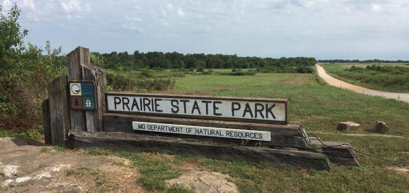 prairie state park sign