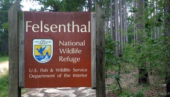 felsenthal national wildlife refuge signpost