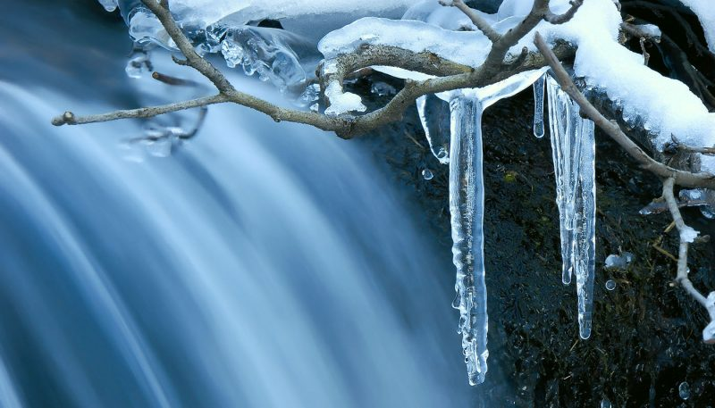 Winter Waterfall - track art